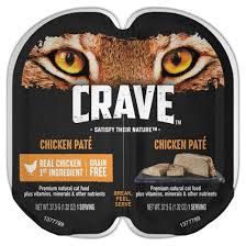 high protein cat food crave grain free high protein chicken paté cat food tray 2 6