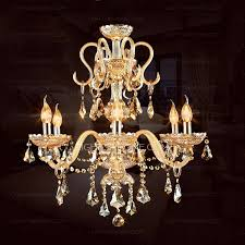 Champagne Color Crystal Material Large Chandeliers For Sale On Home Dining Room