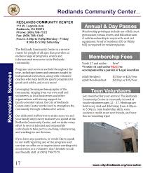 Lamps Plus Redlands Ca Jobs by Community Center Programs City Of Redlands