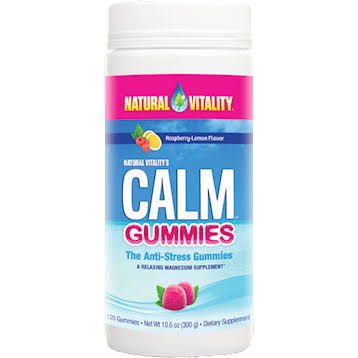 Natural Vitality Calm the Anti-Stress Gummies - Raspberry Lemon, x120