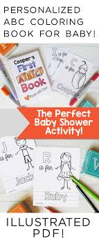 Printable ABC Coloring Book Shower Game Alphabet Baby Gift Printables PDF 85x11