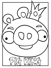 Pig King Angry Birds Printable Kids Coloring Book Realisticcoloringpages Clipart