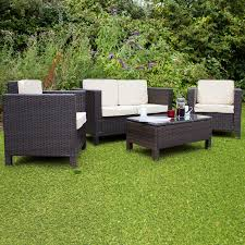Ebay Patio Furniture Uk by New Rattan Garden Furniture Morocco 4 Seater Brown Conservatory