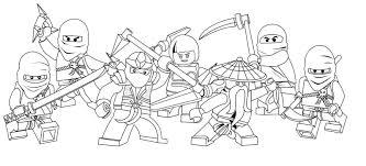 Characters Of Ninjago Coloring Pages