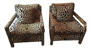 Thayer Coggin Sofa Sectional by Milo Baughman For Thayer Coggin Leopard Parsons Chairs A Pair