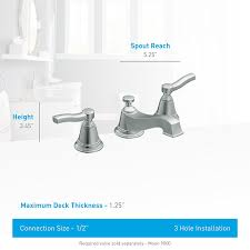 Moen 90 Degree Vessel Faucet by Moen Ts6205 Rothbury Two Handle Low Arc Bathroom Faucet Without