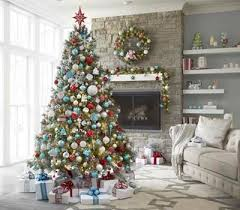 Saran Wrap Christmas Tree With Ornaments by Christmas Decorations For The Holiday Season The Home Depot