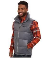 marmot stockholm vest in gray for men lyst