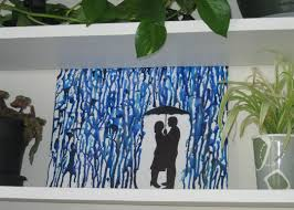 Home Decor Large Size Design Melted Crayon Art Silhouette Print Out Craft Room Small