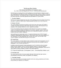 How To Write A Marketing Plan Template One Page Free Sample Example Within Nonprofit Monster Download