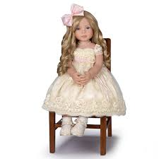 The AshtonDrake Galleries Weighted Lifelike Baby Girl Doll By