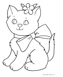 Preschool Coloring Pages Cat