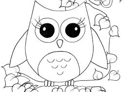 Coloring Pages Printable Owl Girls Sheets Simple Best Cute Amazing White Wallpaper Drawing Animal Popular