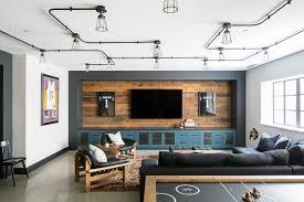 industrial modern landhausstil wohnzimmer los angeles