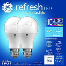 refresh 60w equivalent daylight 5000k high definition a19 dimmable