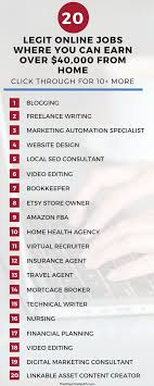 33 Legit Online Jobs Where You Can Earn Over $40,000 From Home Best Online Web Designing Work From Home Images Decorating 70 Legitimate Nphone Workathome Jobs Earn Smart Class Kitchen Designs Layouts Free Have Breathtaking Restaurant 25 Unique Job Opportunities Ideas On Pinterest Based Jobs Online 10 Places To Find Social Media 27 Best Work From Home Landing Page Design Images Design Ideas Stesyllabus Emejing At Gallery