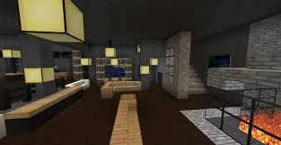 Modern Minecraft Mansion Living Room 2 by TheFawksyArtist on