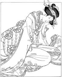 Women In Japanese Art Ukiyo E Woodblock Prints Dover Fashion Coloring Book