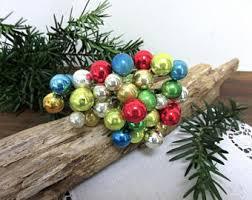 Vintage Tiny Glass Ornament Mini Ornaments Mercury Christmas Decor Bottle Brush Tree