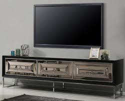 casa padrino luxus tv schrank mit 3 verspiegelten schubladen schwarz silber 220 x 49 x h 64 cm wohnzimmer möbel luxus qualität
