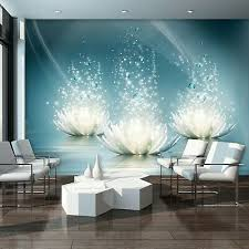 vlies fototapete 3d abstrakt lilien schlafzimmer blumen