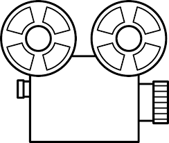 Movie Old Video Outline Silhouette Cartoon Camera