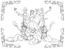 All Disney Princess Coloring Pages
