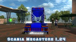 100 Megastore Truck SCANIA MEGASTORE FOR 124 Euro Simulator 2 Mods