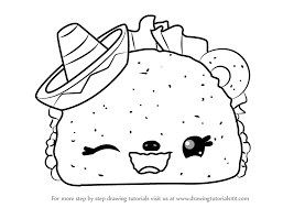 Learn How to Draw Tasty Taco from Num Noms Num Noms Step by Step Drawing Tutorials