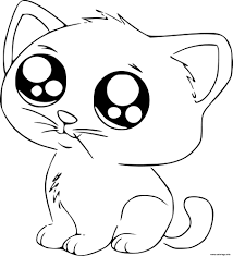Coloriage Dessin Chat Kawaii Cute Dessin