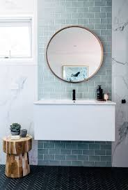 Blue Tile Bathroom Mirror | Creative Bathroom Decoration The Mirror With Shelf Combo Sleek And Practical Design Ideas Black Framed Vanity New In This Master Bathroom Has Dual Mirrors Hgtv 27 For Small Unique Modern Designs Medicine Cabinets Lights Elegant Fascating Guest Luxury Hdware Shelves Expensive Tile How To Frame A Bathroom Mirrors Illuminated Lighted Bath Yliving 46 Popular For Any Model 55 Stunning Farmhouse Decor 16
