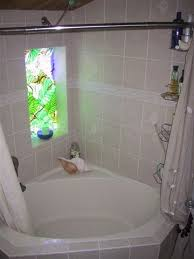 corner tub shower curtain rod click on picture to enlarge