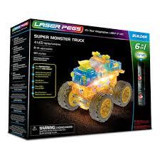 100 Monster Truck Toys For Kids Laser Pegs 6in1 Super Building Set Building Sets