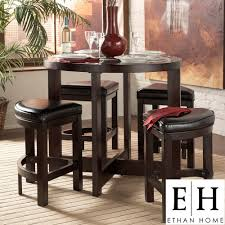 ETHAN HOME Capria 5-piece Casual Counter-height Brown Pub ...