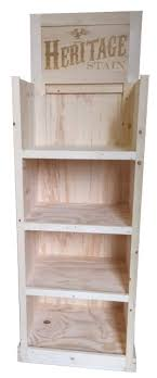 Rustic Wood Retail Store Stain Paint Merchandiser Display Shelving