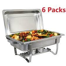 Chafing Dish Buffet SetsSet Of 6Chafing Dishes Aluminum DisposableRectangle