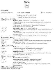 Job Resume Template High School Student Format Students Sample Academic Templates