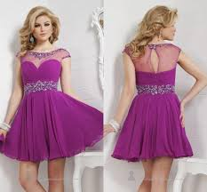 purple prom dresses short homecoming dress mini beads crystal