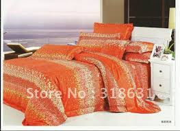 Bright Orange forter Sets orange forter setsfortuno 8piece