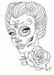 Coloring Pages For Adult Tattoo Sugar Skull