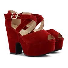 new womens ladies platform high chunky heel peep toe ankle strap