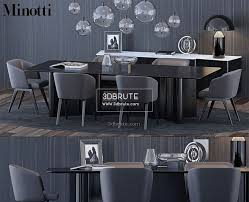 100 Minotti Dining Table And Chair 3dbrute 3dmodel