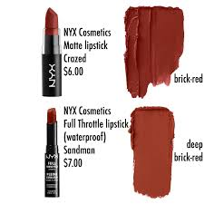 Nyx Pumpkin Pie Dupe by Totally Obsessed With Brick Lipstick Nyx Cosmetics Matte Lipstick