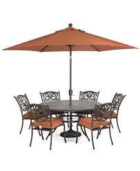 chateau outdoor cast aluminum 7 pc dining set 60 round dining