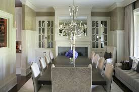 Inspired Electric Fireplace Inserts In Dining Room Traditional With Built Next To Mirrors Alongside High Chair Rail And Living