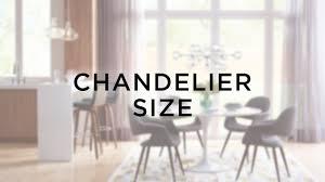 Chandelier Size Guide