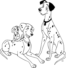 Coloriage 101 Dalmatiens Chiots Ballon Sur Hugolescargot Throughout