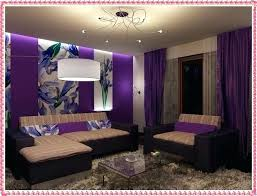 Purple Accent Wall Living Room With Cool Modern Color Combinations New