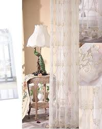 Gold And White Sheer Curtains by Quality Gold Embroidered Pattern White Sheer Curtain