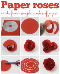 Paper Roses These Fab Are Made From Just A Circle Of And Easy To Make Perfect For Mothers Day Or Home Gift
